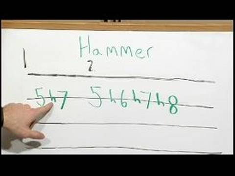 How To Read Tab For Guitar : Hammer & Reading Guitar Tab