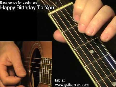 HAPPY BIRTHDAY: Easy Guitar Lesson + TAB By GuitarNick