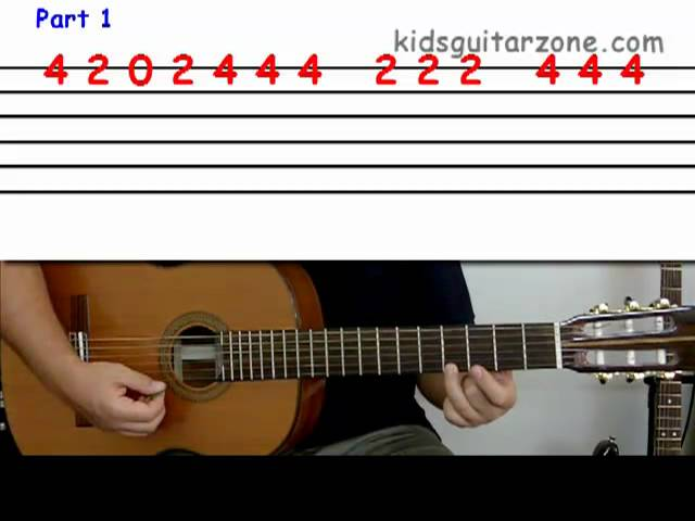 Guitar Lesson 2E Beginner Mary Had A Little Lamb On