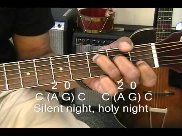 How To Play SILENT NIGHT On Guitar With 3 Chords / Chord Melody ...